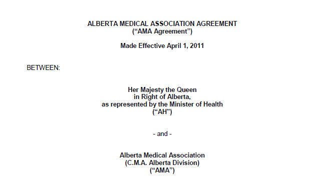 1 Two Party Agreement Alberta Medical Association