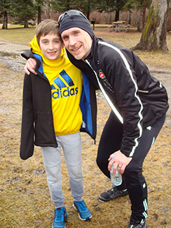 AMA member, Dr. Marc Bibeau and his son, Luc